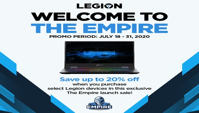 Lenovo Legion welcomes gamers to join 'The Empire' Holds price drop promo for a limited time only 2020 - Microinsurance Philippines